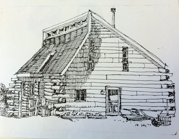Jim Houston log cabin 1977