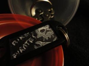 Adriana Monti, painted keychain.